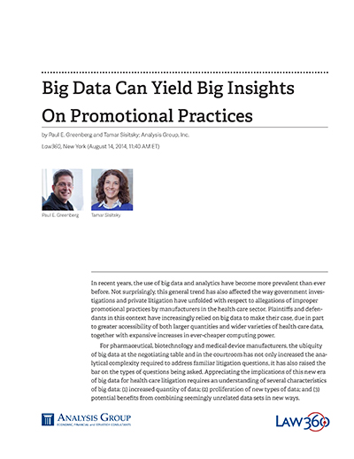Big Data Can Yield Big Insights On Promotional Practices