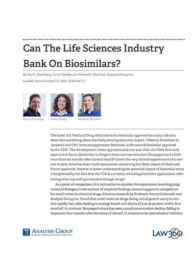 Can The Life Sciences Industry Bank On Biosimilars?