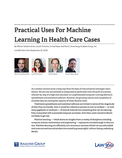 Practical Uses For Machine Learning In Health Care Cases